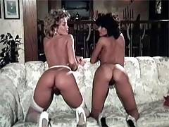 Lucky guy banging two sexy eighties ladies at same time