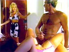 Horny seventies stud cheating on his lovely wife at home