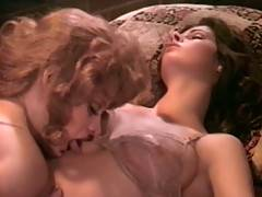 Two sexy and sensual seventies lesbians licking wet pussy
