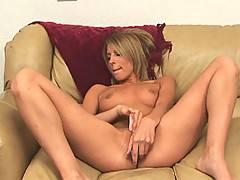 Lucy Summers legs wide open as she fingers her wet tight pussy